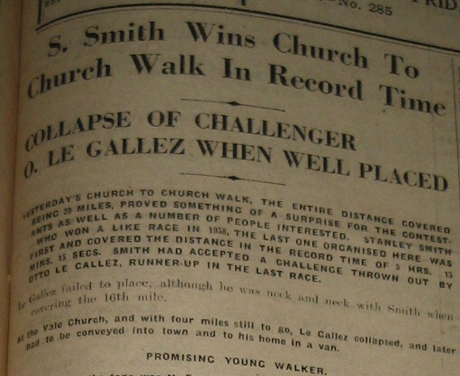 le gallez walkers in church to church guernsey race walking sarnia